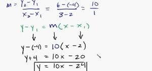 equation of a line math