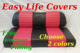 golf cart front custom seat covers