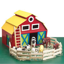 big wooden barn playset for kids