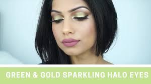 green gold sparkling halo eyes