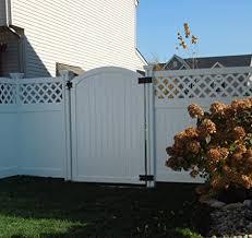 Amazon Com Wambam Traditional 6 By 4 Feet Premium Vinyl Arched Vinyl Gate With Powder Coated Stainless Steel Hardware Garden Gates Garden Outdoor