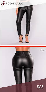 fashion nova faux leather pants nwt