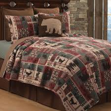 wildlife mountain quilt bed set twin