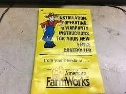 American Farm Works Fence Controller Afw Electric Fencer Operators Manual Ebay
