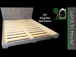 build a simple king size bed frame out