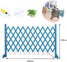 Zeiyuqi Fold Solid Wood Small Garden Fencing Lightweight Plant Growing Support Screen For Wall Garden Backyard Yard Fence For Dogs Amazon Co Uk Sports Outdoors