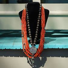 eight strand c necklace