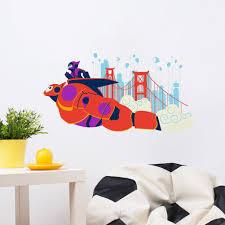 Big Hero 6 Robot Baymax And Hiro Hamada Wall Stickers Bebe