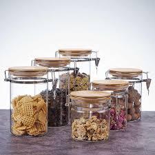 airtight storage tea jars glass with