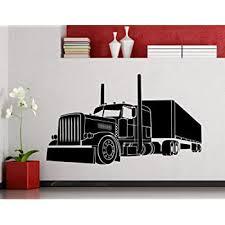 Amazon Com Big Truck Wall Decal Semi Truck Automobile Monster Car Vehicle Vinyl Sticker Home Nursery Kids Boy Girl Room Interior Art Decoration Any Room Mural Waterproof Vinyl Sticker 188xx Baby