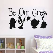 Be Our Guest Wall Decal Kids Bedroom Art Decor Funny Vinyl Nursery Interior Wall Stickers Home Decoration For Living Room Y705 Wall Stickers Aliexpress