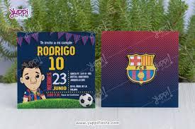 Invitacion Barcelona Messi Decoracion Fiesta De Futbol