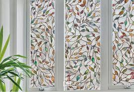 stained glass static cling window