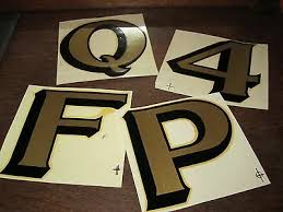 A Z 0 9 Vintage 5 Duro Waterslide Decals Letters Numbers Typography Gold Foil Ebay