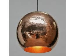 pendant chandelier in polished copper