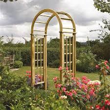 round top wooden garden arches