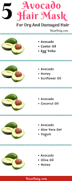 5 avocado hair mask for dry and damaged