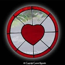 com stained glass loving heart