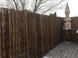 Backyard X Scapes Bamboo Fencing Natural Black Walmart Com Walmart Com