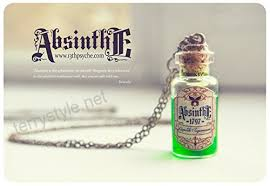 absinthe necklace glass vial necklace