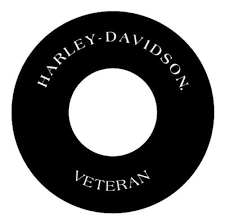 Harley Davidson Veteran 8 Round Air Cleaner Filter Cover Insert Vinyl American Classic Motors