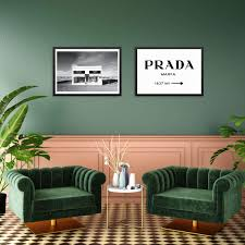 Amazon Com Trendy Fashion Road Miles Sign And Marfa Texas Art Prints Set Chic Designer Couture Posters 11x14 Unframed Modern Minimalist Artwork For Bedroom Living Room Or Home Of 11 X14 Set Of
