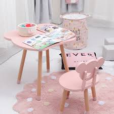 Kids Furniture Simple Children S Solid Wood Table And Chair Set Writing Games Learning Tables And Chairs Desk Dining Table Set Aliexpress