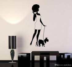 Removable Sticky Vinyl Wall Decal Afro Lady Woman Style Fashion Dog Wall Stickers Home Decor Bedroom Living Room Art Mural Space Wall Decals Space Wall Stickers From Joystickers 7 15 Dhgate Com