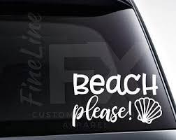 Seashell Car Decal Etsy