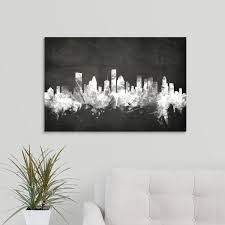 Greatbigcanvas 30 In X 20 In Houston Texas Skyline By Michael Tompsett Canvas Wall Art 2448264 24 30x20 The Home Depot