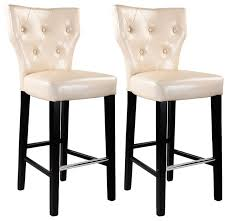 kings bar height barstool cream bonded