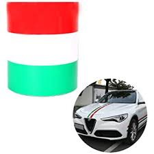 Amazon Com Mczauto 110 X 5 9 39 X 2 75 Italian Italy Flag Stripe Decal Sticker Car Sticker For Car Exterior Cosmetic Hood Roof Bumpers Italy Kitchen Dining
