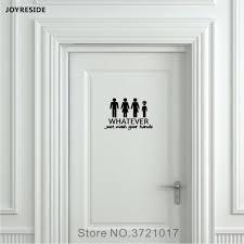 Unisex Restroom Bathroom Toilet Door Wall Decal Vinyl Sticker Decor Funny Wash Your Hands Alien Home Decoration Unique Wall Decals Wall Mural Decals From Joystickers 8 96 Dhgate Com
