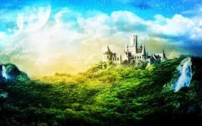 magic castle wallpaper wall4ever