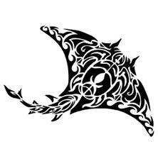 Amazon Com Tribal Stingray Vinyl Decal Sticker Black Automotive