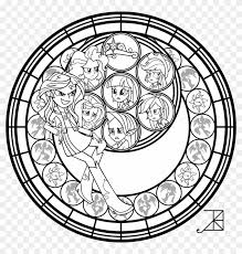 stained gl clipart coloring page