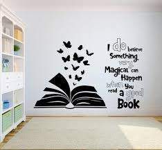 Book Quote Kids Wall Decal Books Quote Reading Room Library Etsy In 2020 Creative Wall Painting Wall Painting Decor Kids Wall Decals