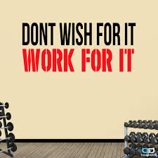 Don T Wish For It Premium Motivational Fitness Gym Etsy