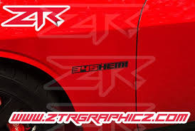 Custom Dodge Challenger Or Charger 345 Or 392 Hemi Fender Emblem Decal Ztr Graphicz