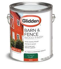 Glidden Grab N Go Barn Fence Exterior Paint Red Flat Finish 1 Gallon Walmart Com Walmart Com