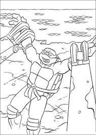 Ninja Turtle In Een Val Kleurplaat Gratis Kleurplaten Printen