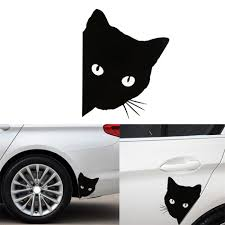 Cat Face Peering Car Sticker Decals Pet Cat Motorcycle Decorative Stickers 12 15cm Car Window Decals Car Sticker For A3 Car Stickers Aliexpress