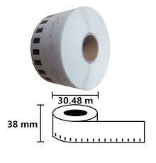 Съвместими етикети за принтери Brother DK-22225 с непрекъсната ...
