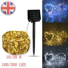 solar string copper wire fairy lights