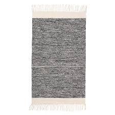 ferm living melange bathroom rug black