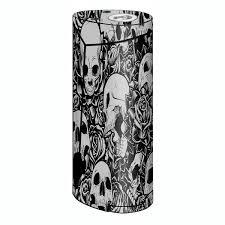 Skin Decal For Smok Priv V8 Vape Skulls N Roses Black White Screaming Itsaskin Com