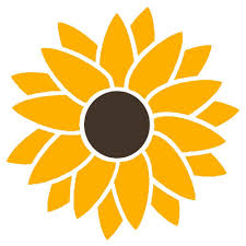 Smaller 2 Color Sunflower Hippie Flower Power Vinyl Sticker Decal Lilbitolove On Artfire