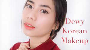 dewy makeup tutorial indonesia