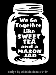 Southern Girls Like Sunshine And Sweet Tea Vinyl Decal Sticker Cute Mason Jar For Sale Online Ebay