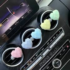 Macaron Color Plaster Heart Shaped Car Air Vent Decoration Carsoda